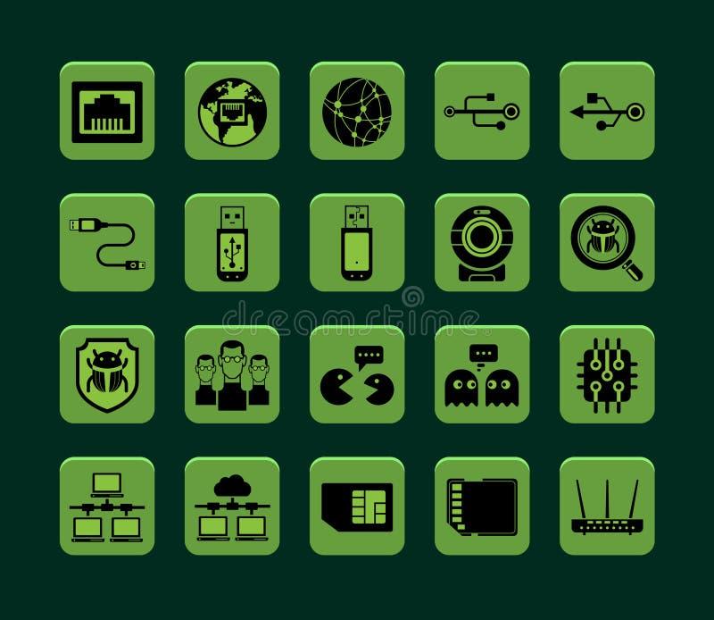 Ícones da rede ilustração do vetor