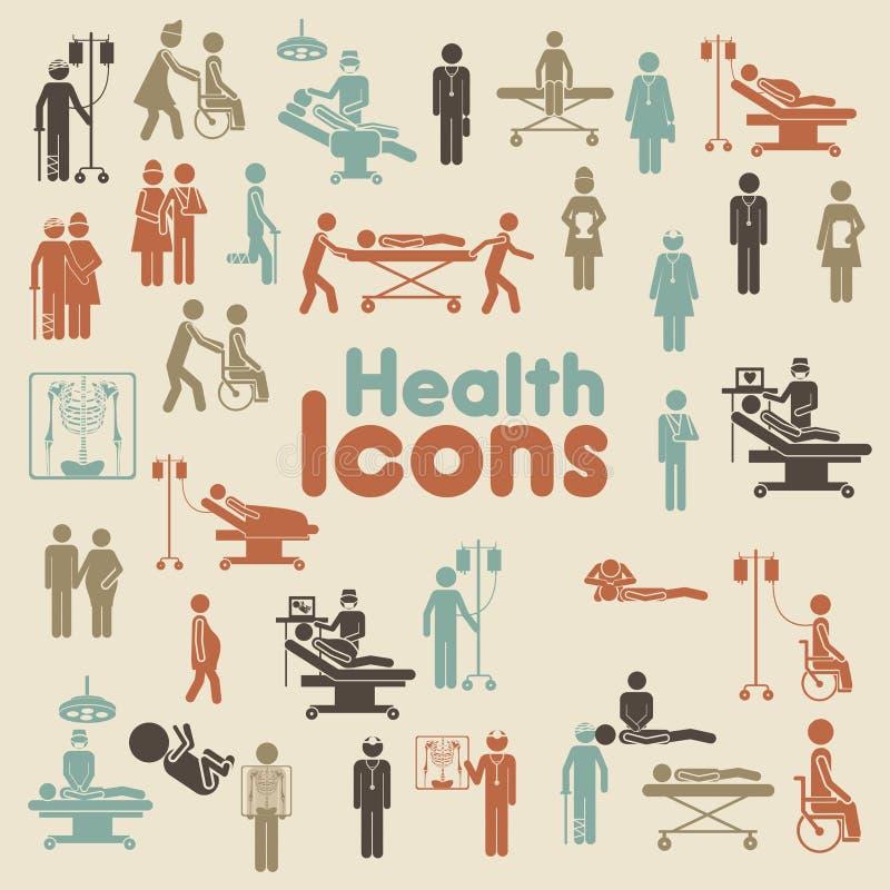Ícones da saúde ilustração royalty free