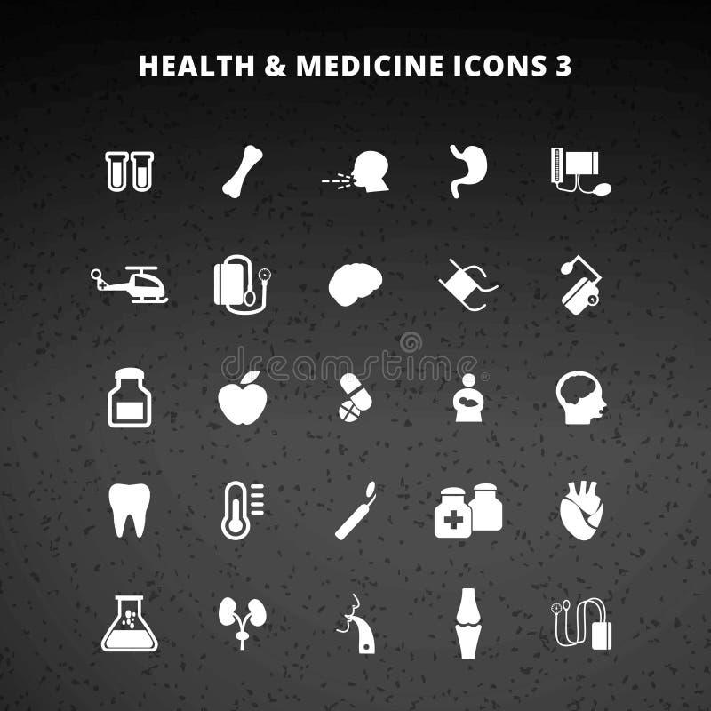 Ícones da saúde e da medicina ilustração stock