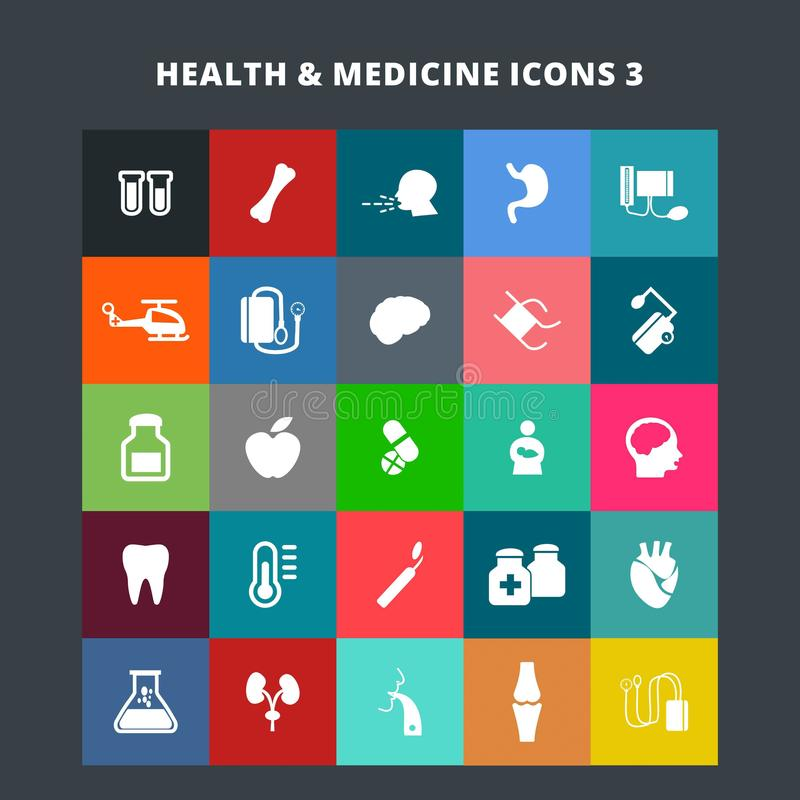 Ícones da saúde e da medicina ilustração do vetor