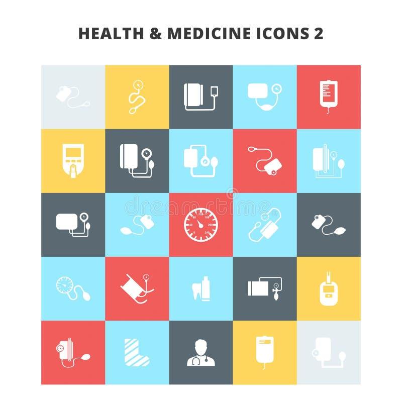 Ícones da saúde e da medicina ilustração royalty free