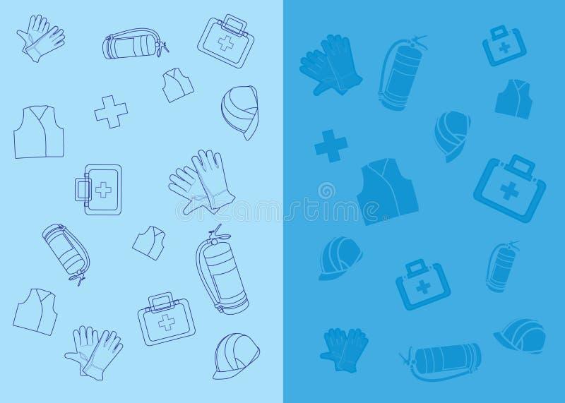 Ícones da segurança do trabalho ilustração do vetor