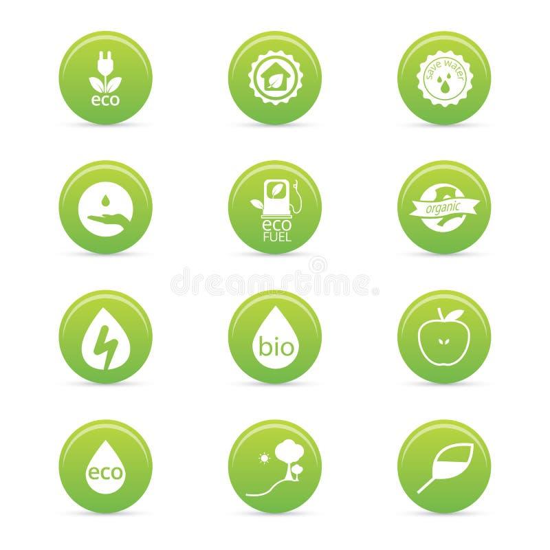 Ícones da sustentabilidade ilustração royalty free