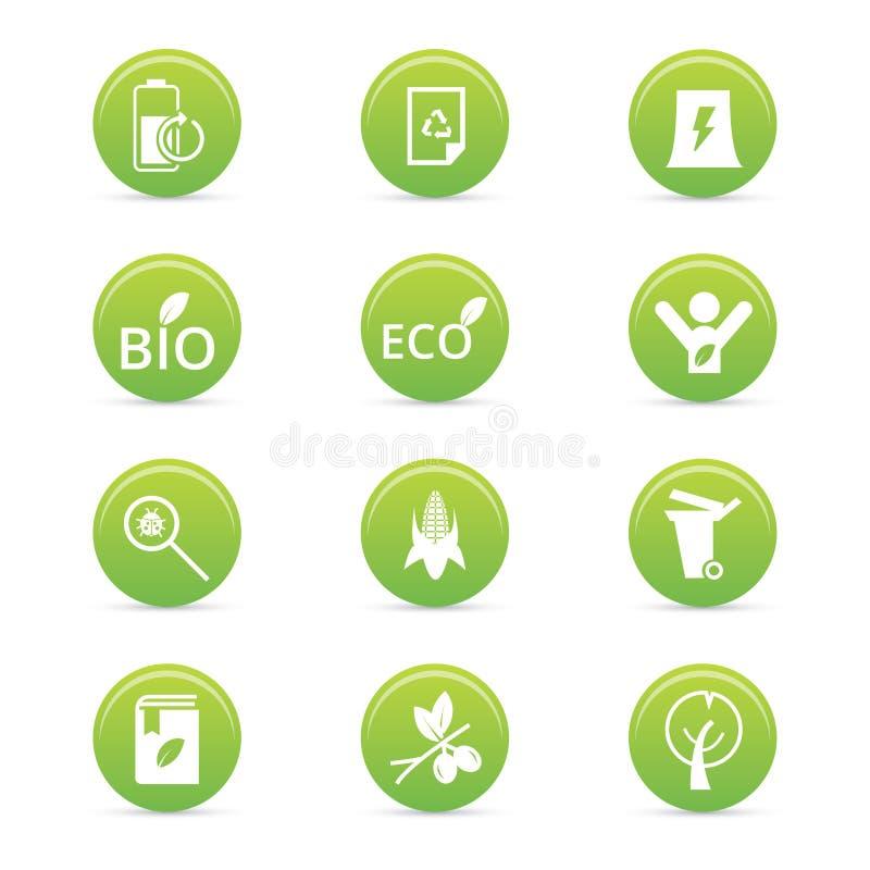 Ícones da sustentabilidade ilustração do vetor