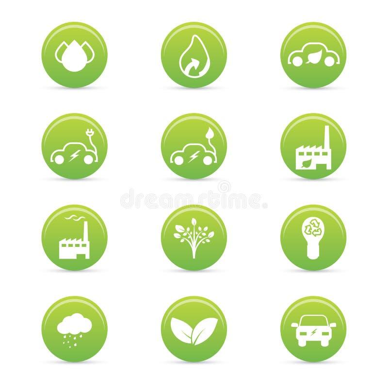 Ícones da sustentabilidade ilustração stock
