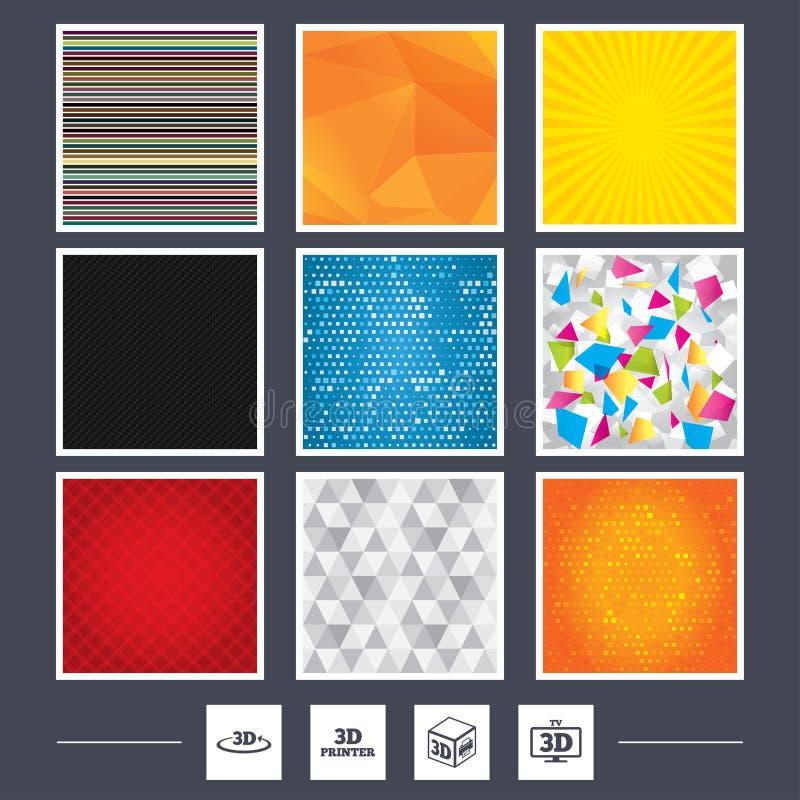ícones da tecnologia 3d Impressora, seta da rotação ilustração do vetor