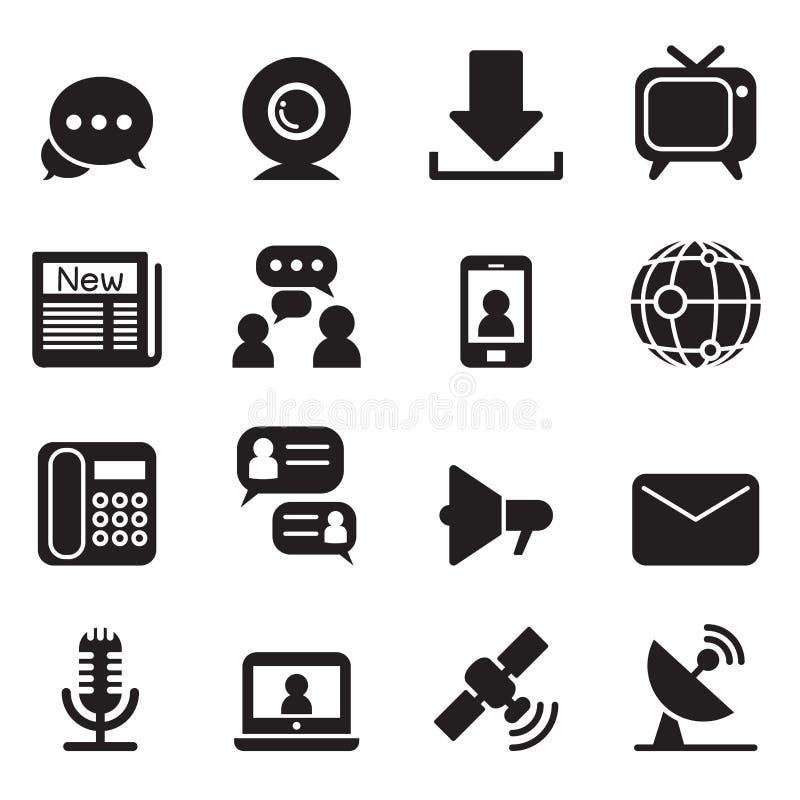 Ícones da tecnologia de comunicação ilustração do vetor