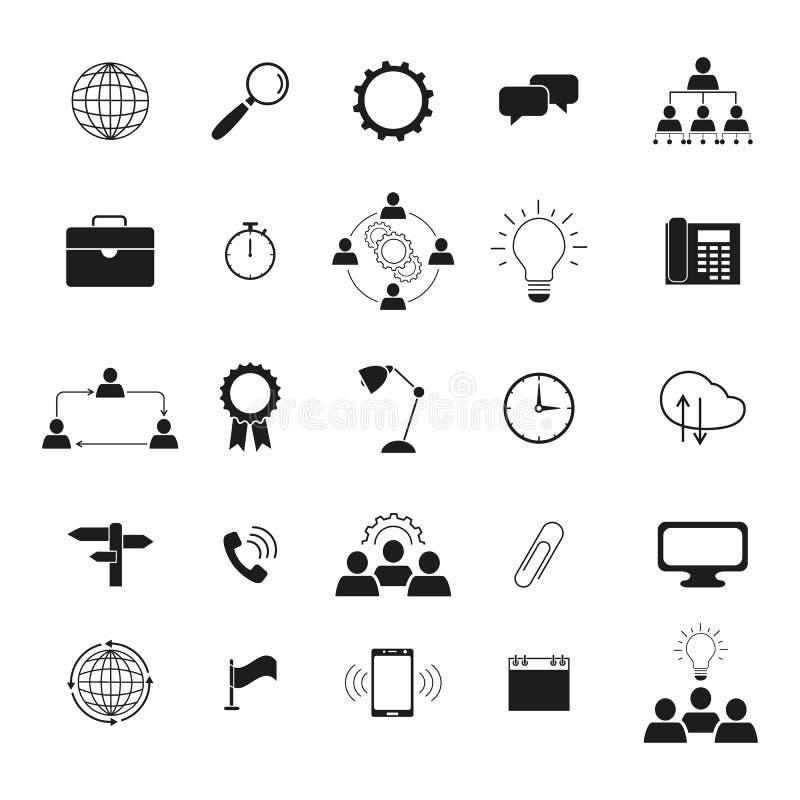 Ícones da tecnologia da informação o trabalho da equipe do grupo ilustração do vetor
