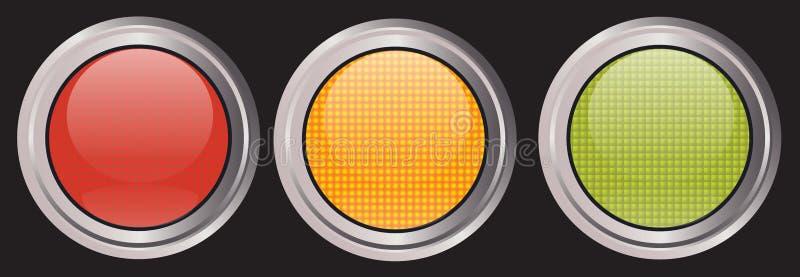 ícones da Tráfego-luz ilustração stock