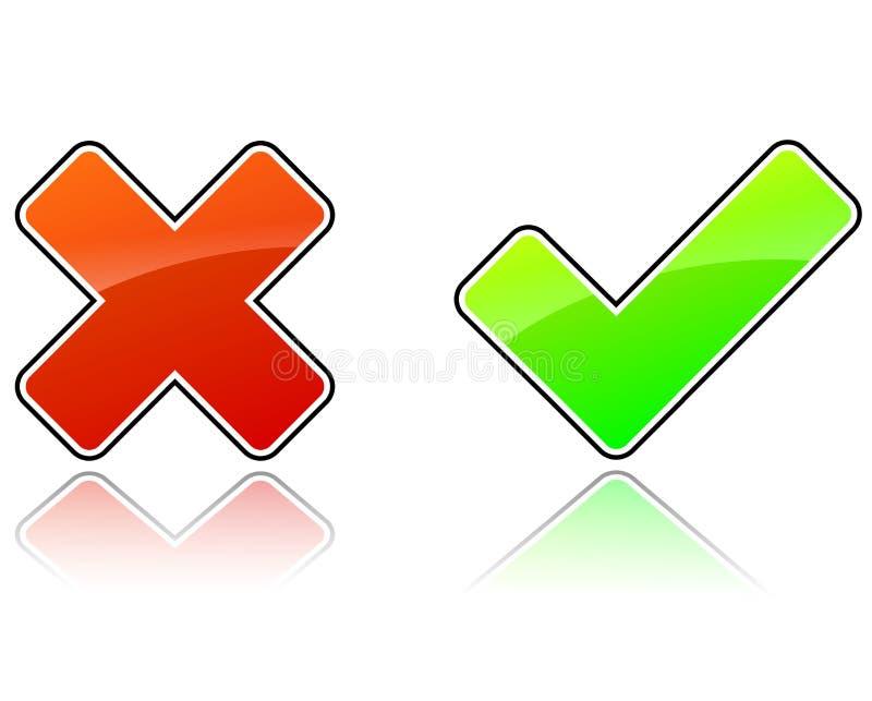 Ícones da validação ilustração royalty free