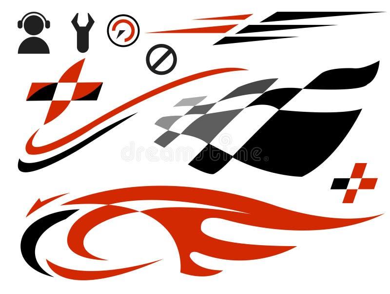 Ícones da velocidade ilustração do vetor