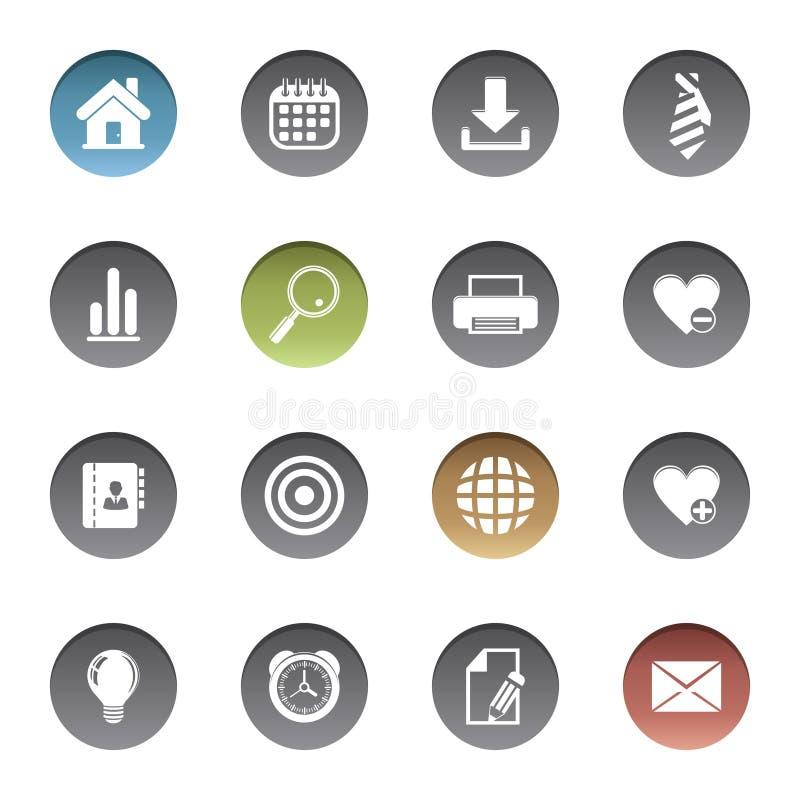 Ícones da Web ilustração stock