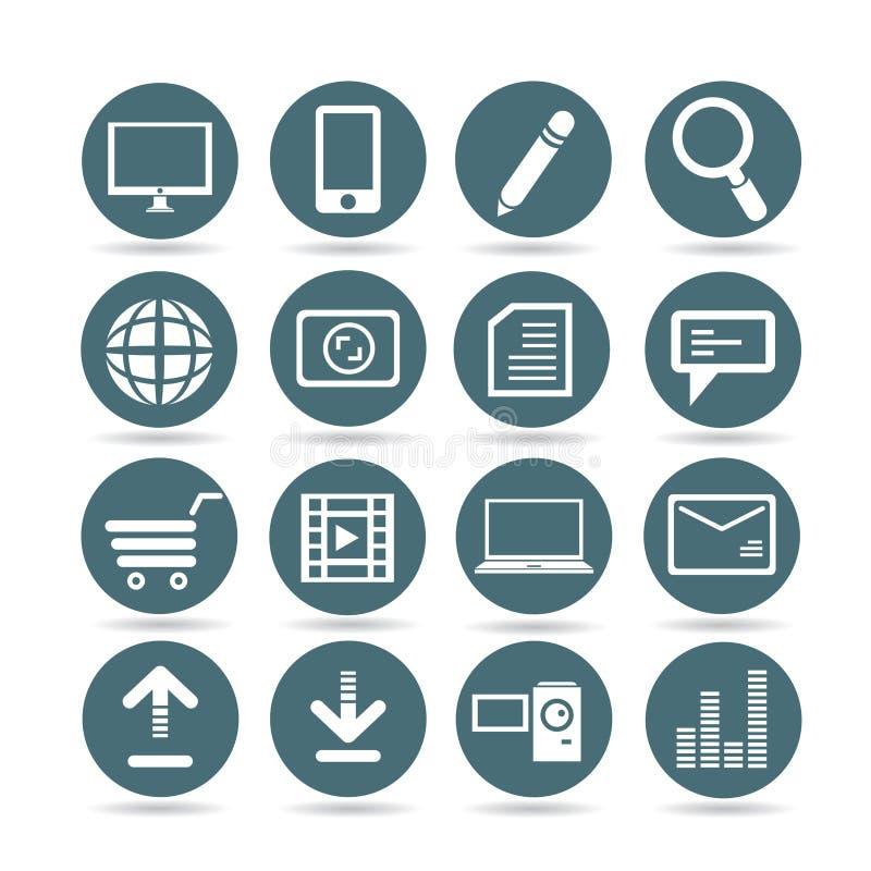 Ícones da Web ilustração do vetor