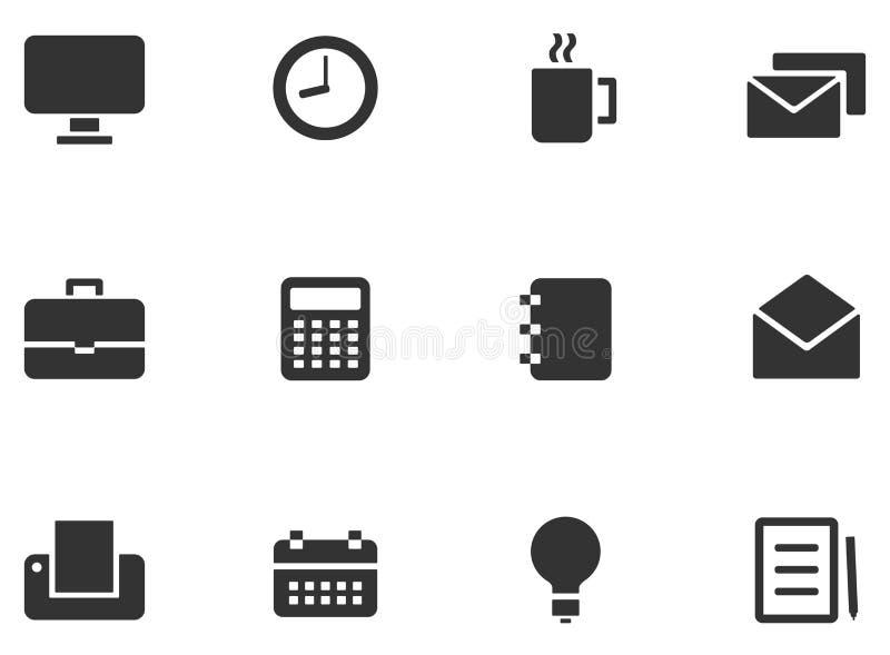 12 ícones da Web ilustração do vetor