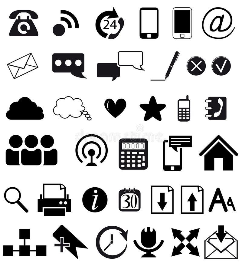 Ícones Da Web E Da Comunicação Fotografia de Stock Royalty Free