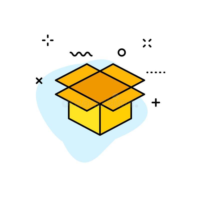 Ícones da Web da entrega e da logística na linha estilo Correio, transporte, entrega expressa, seguindo a ordem, apoio, negócio V ilustração stock