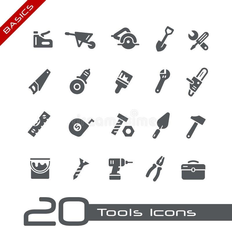 Ícones das ferramentas -- Princípios ilustração do vetor