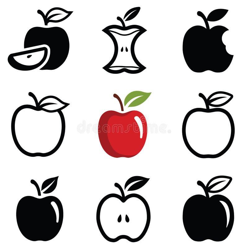 Ícones de Apple ilustração stock