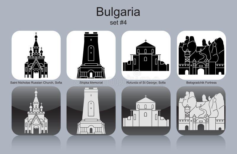 Ícones de Bulgária ilustração royalty free