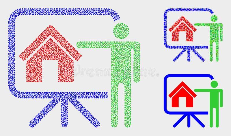 Ícones de Dot Vetora Realtor Public Report ilustração do vetor