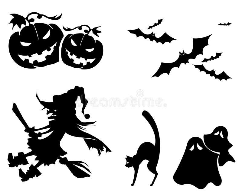 Ícones de Halloween ilustração royalty free
