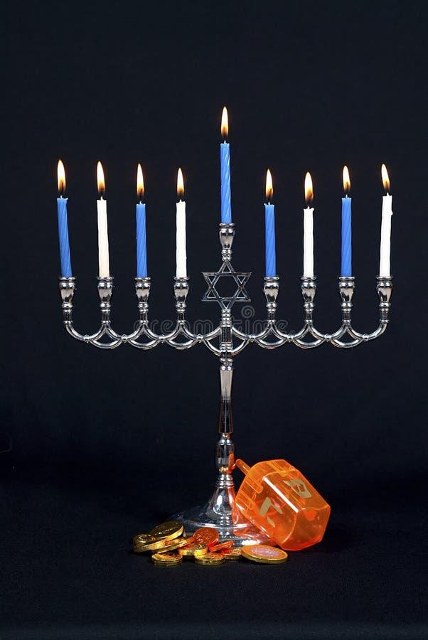 Ícones de Hanukkah imagem de stock royalty free