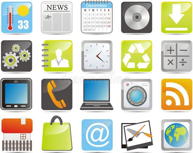 Ícones de IPhone ilustração do vetor