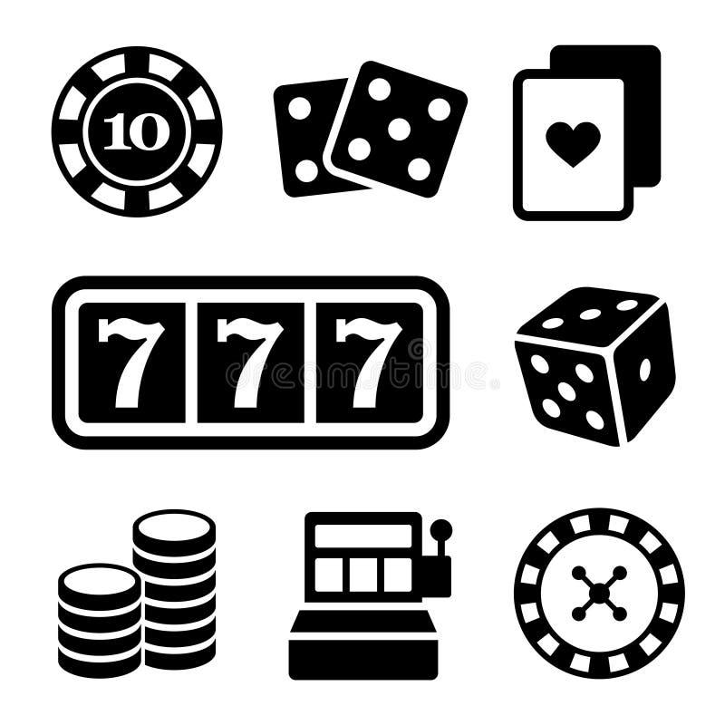 Ícones de jogo ajustados Vetor ilustração royalty free