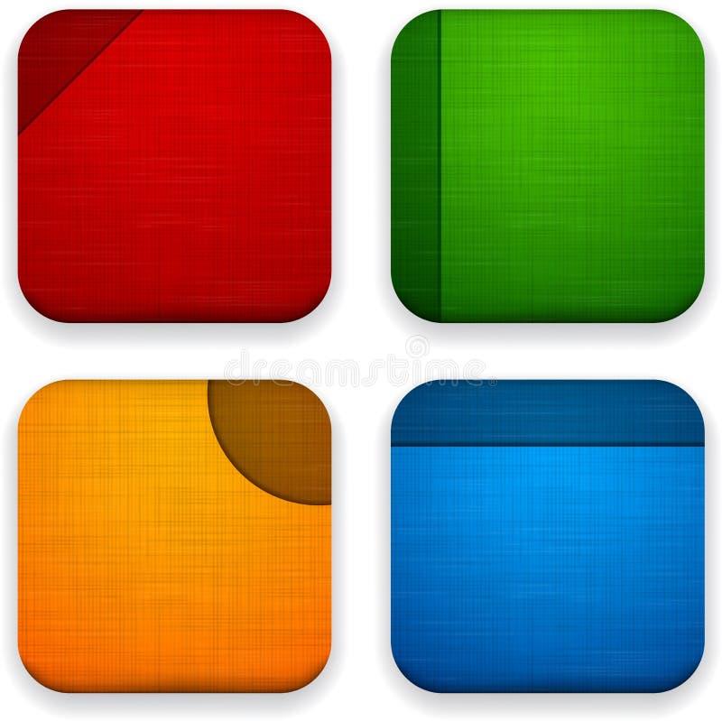 Ícones de linho do app da Web. ilustração do vetor