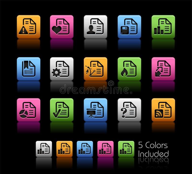 Ícones de originais - caixa de cor de 2 // ilustração do vetor