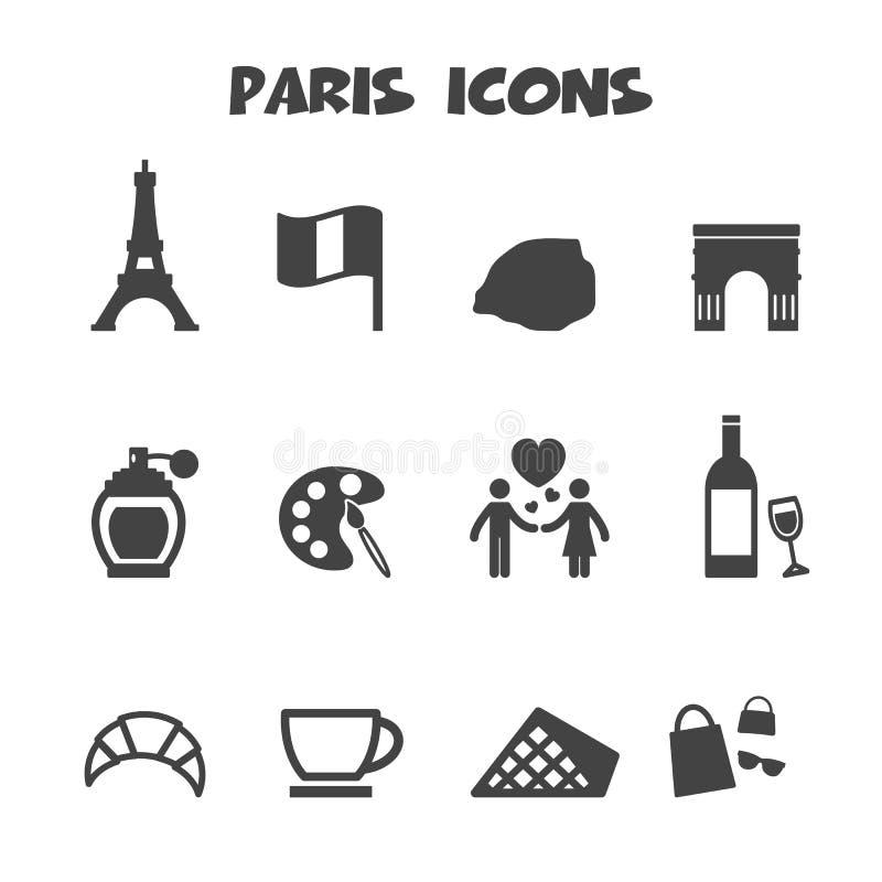 Ícones de Paris ilustração do vetor