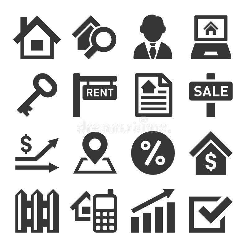 Ícones de Real Estate ilustração royalty free