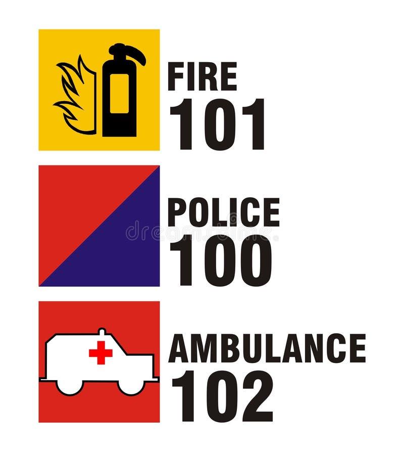 Ícones de serviço público indianos - incêndio, P ilustração do vetor