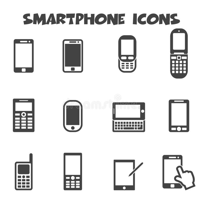Ícones de Smartphone ilustração do vetor