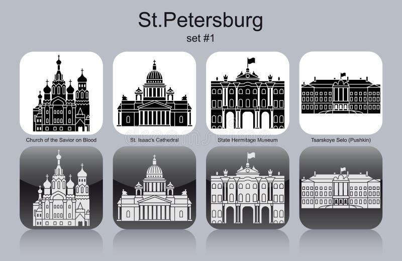 Ícones de StPetersburg ilustração royalty free