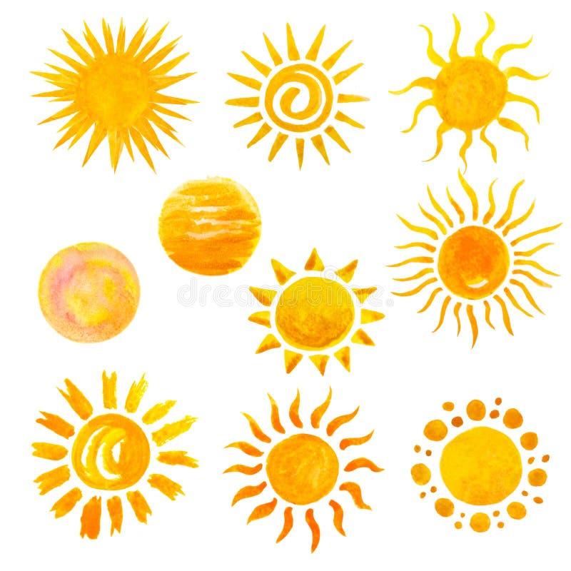 Ícones de Sun ilustração stock