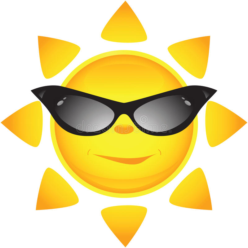 Ícones de Sun. Ilustração do vetor ilustração stock