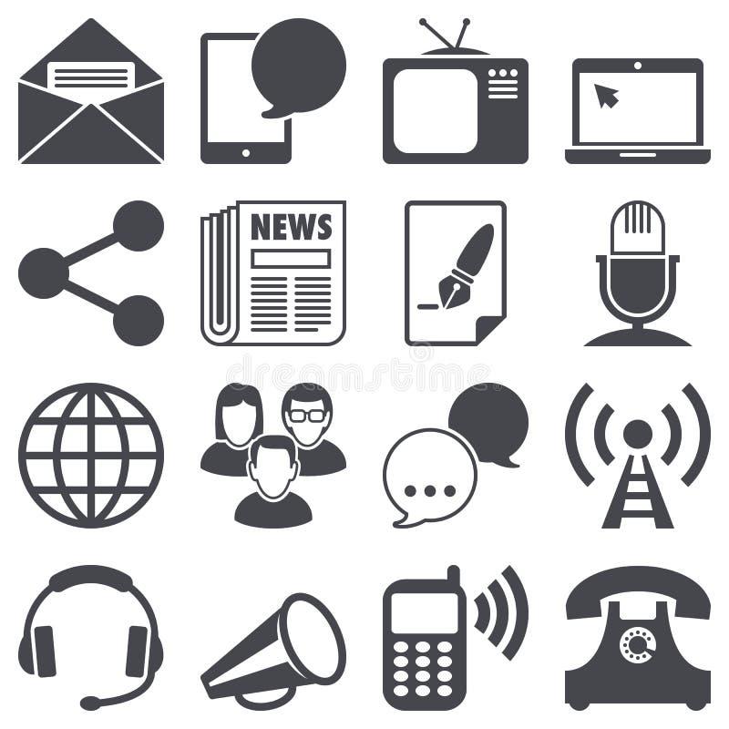 Ícones de uma comunicação ilustração stock