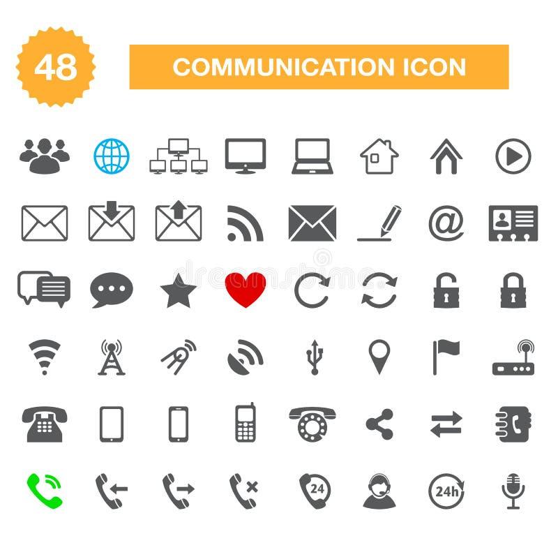 Ícones de uma comunicação para a Web ilustração royalty free