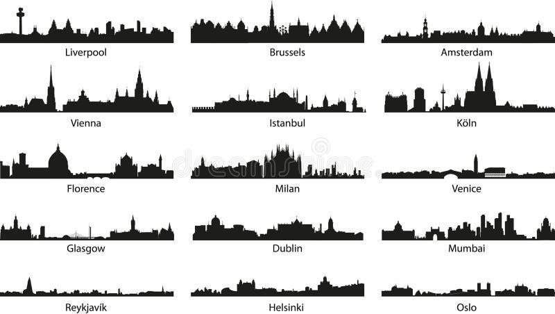 Ícones de Vector_city ilustração do vetor