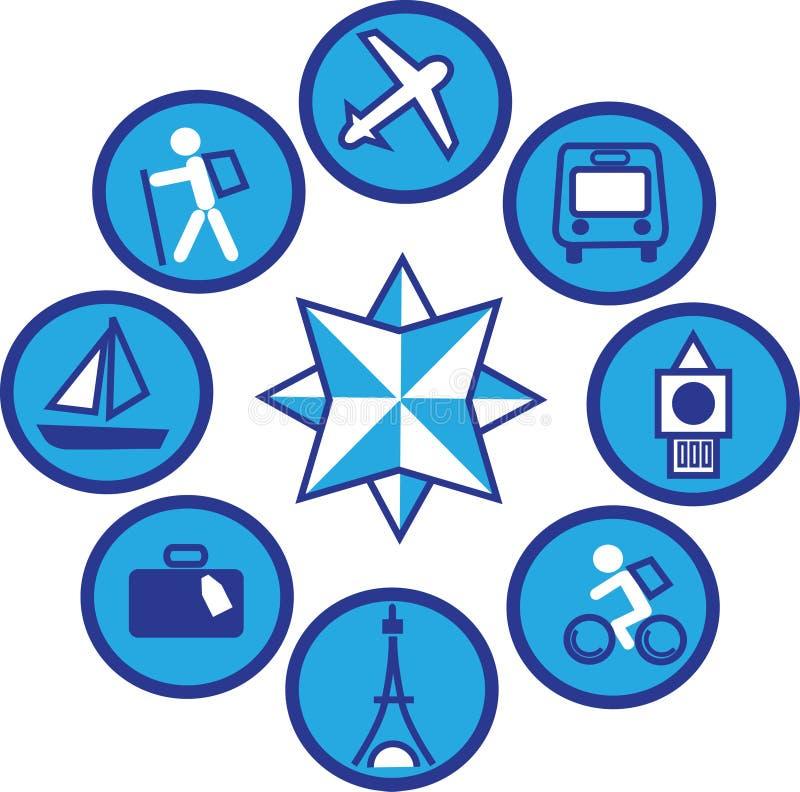 Ícones de viagem - 1 ilustração royalty free