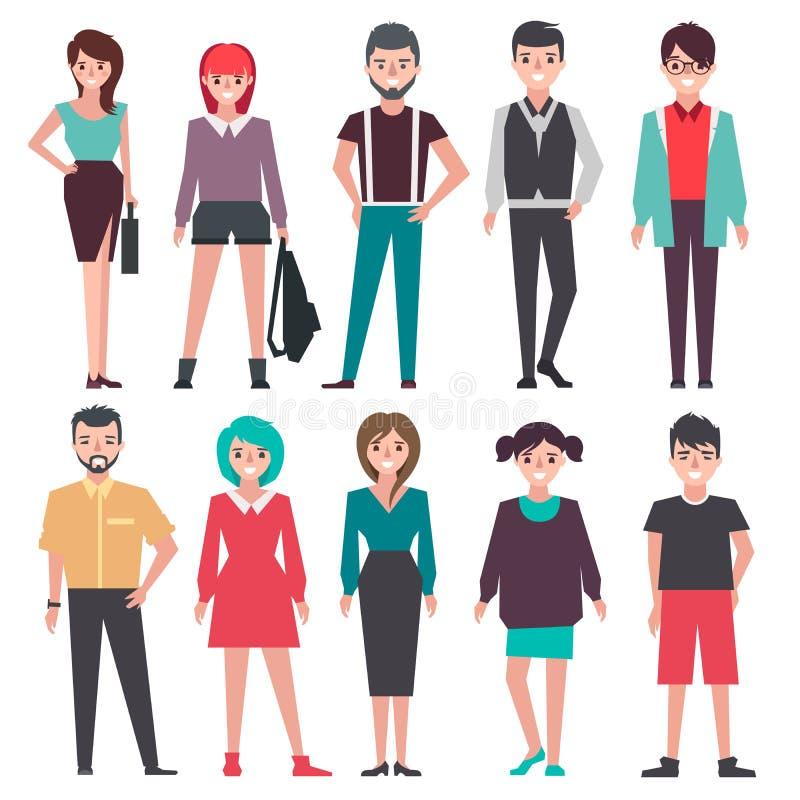 Ícones diferentes das pessoas ilustração do vetor