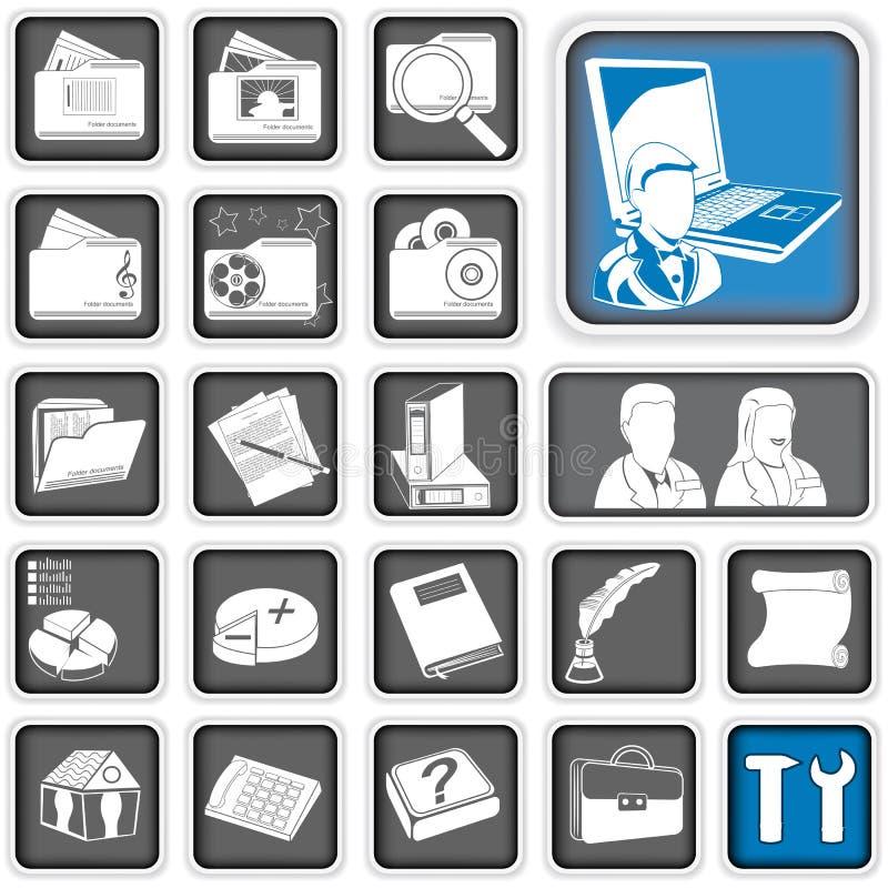 Ícones do Admin. ilustração do vetor