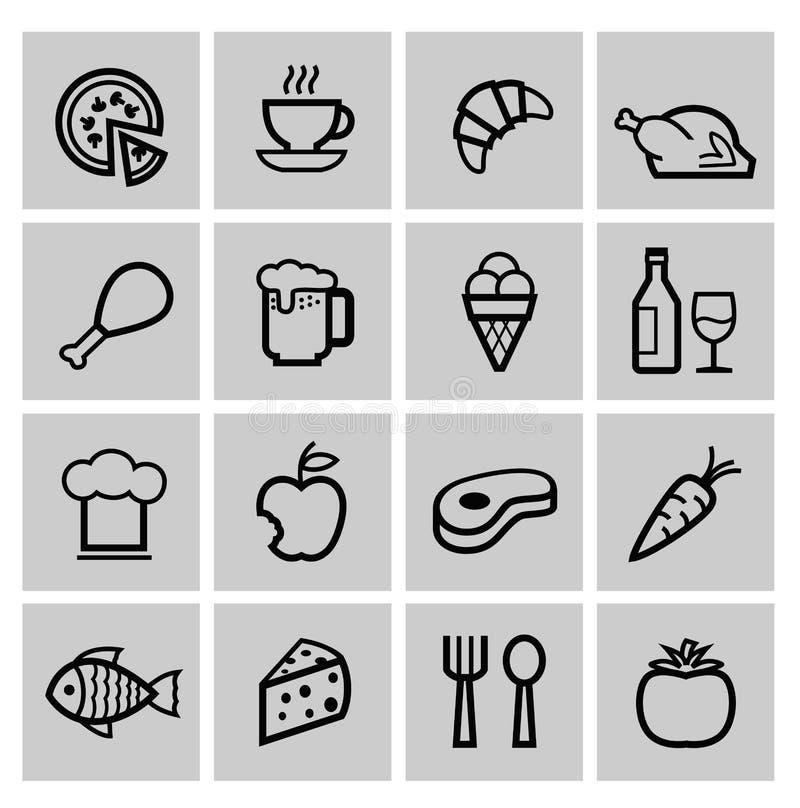 Ícones do alimento ilustração stock
