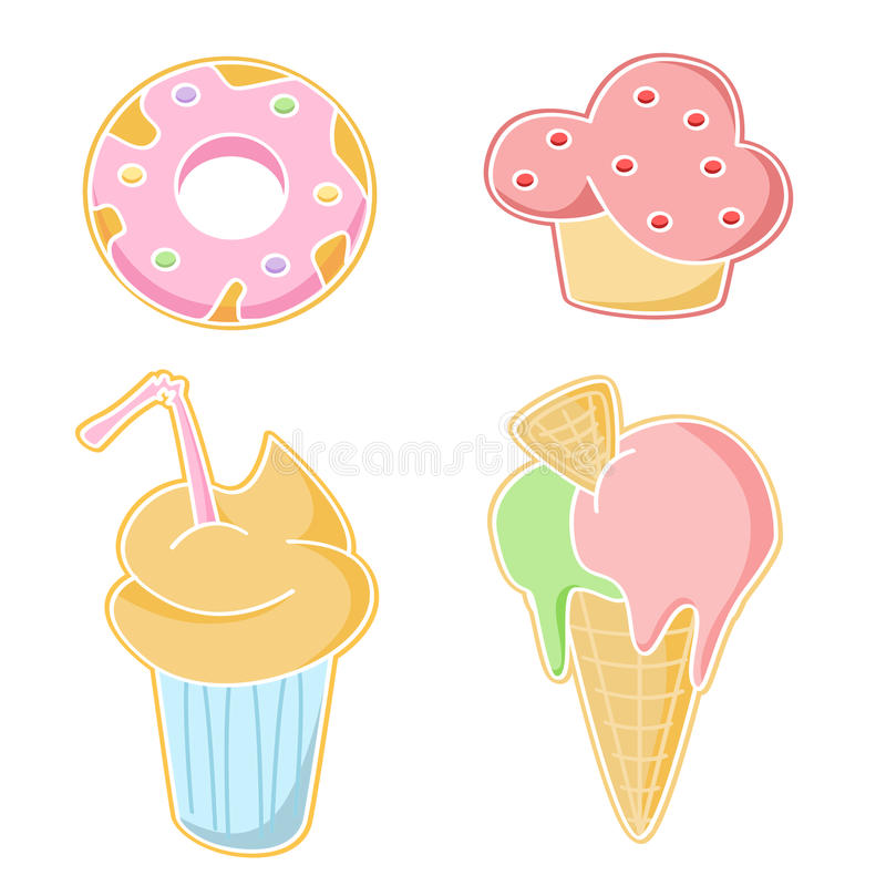 Ícones do alimento da barra ilustração royalty free
