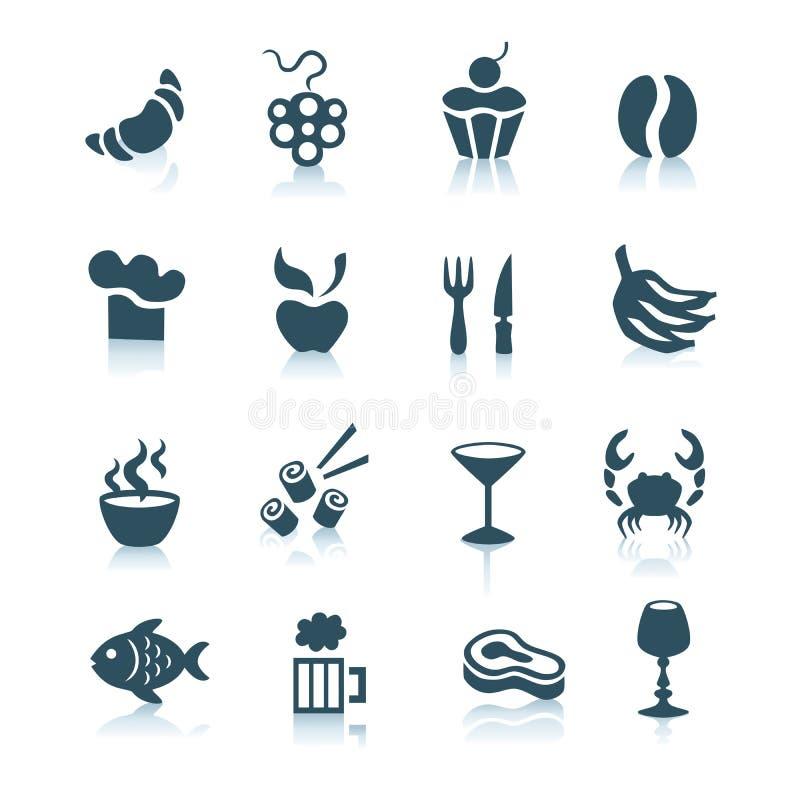 Ícones do alimento, parte 2 ilustração stock