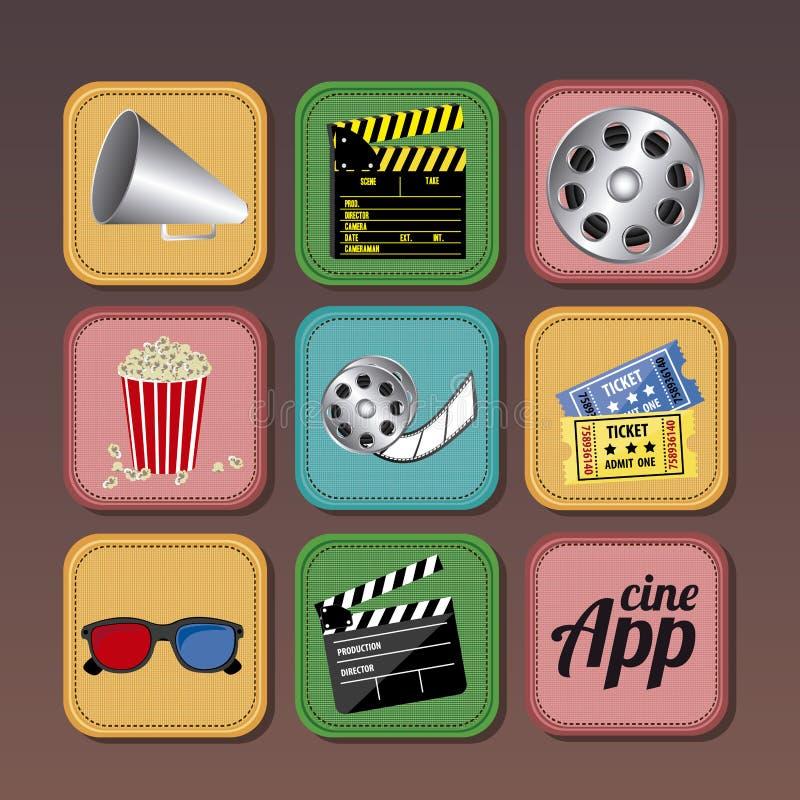 Ícones do App ilustração stock