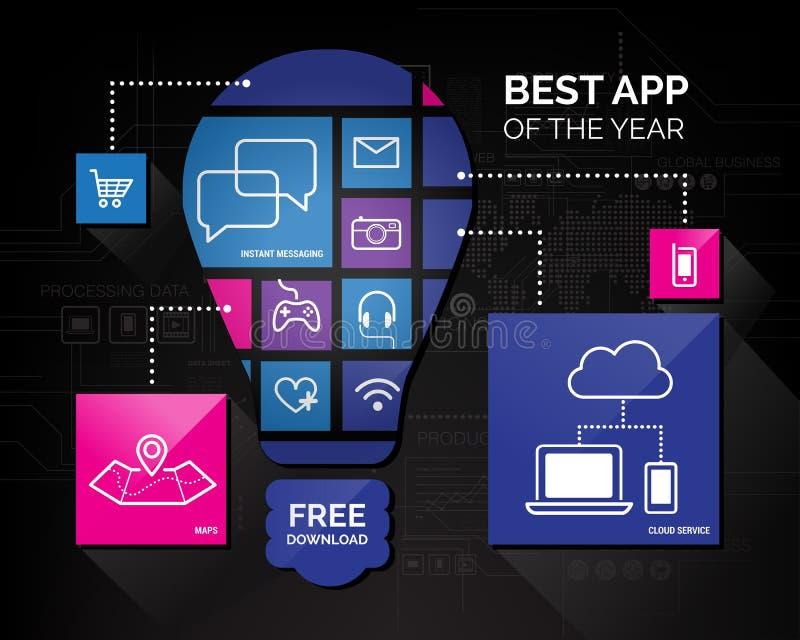 Ícones do App ilustração do vetor