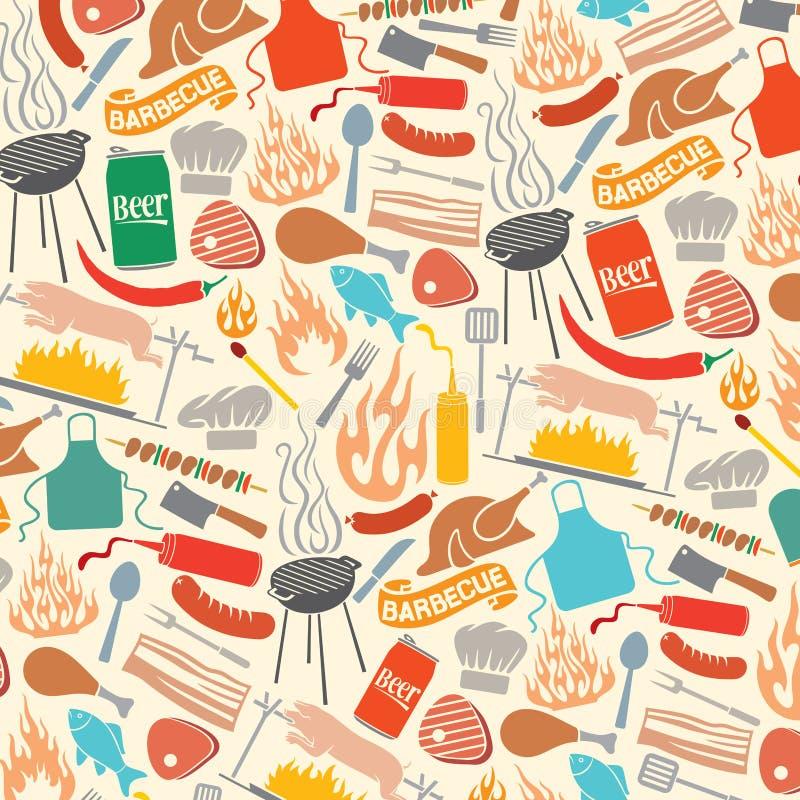 Ícones do assado e do alimento ilustração stock