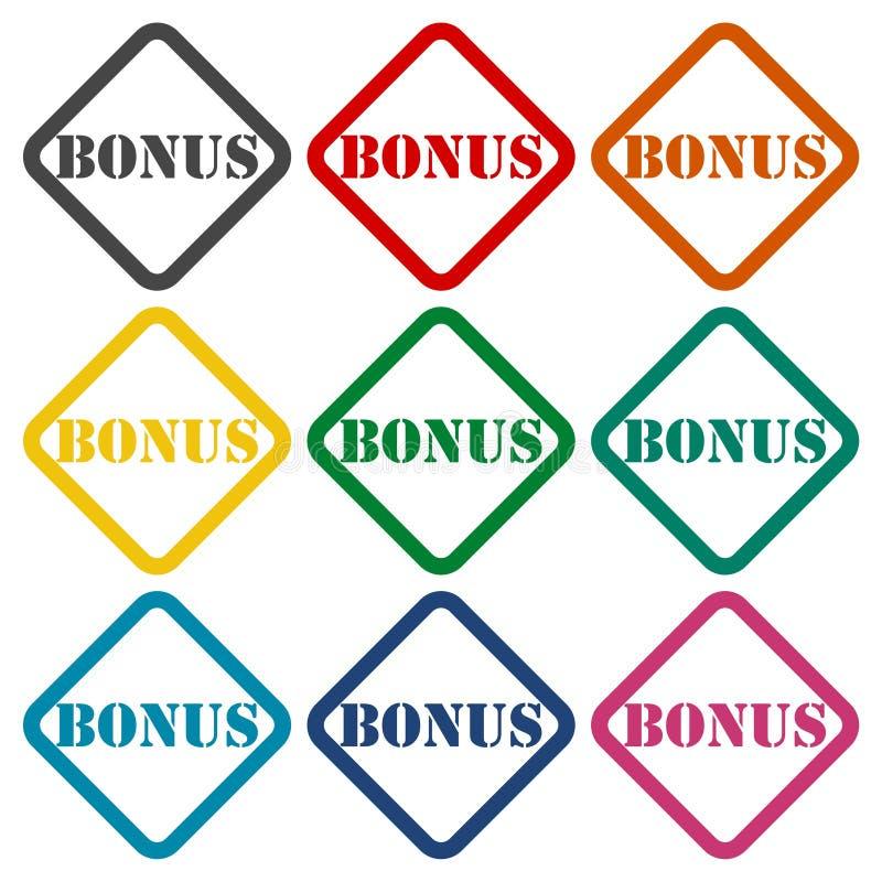Ícones do bônus ajustados ilustração stock